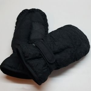 Girls Thinsulate Insulted Black Mittens